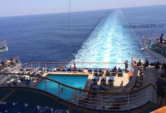Вид с кормы корабля