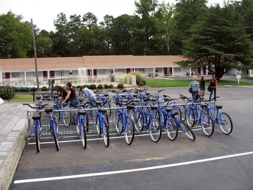 Велосипеды для сотрудников парка в свободном доступе