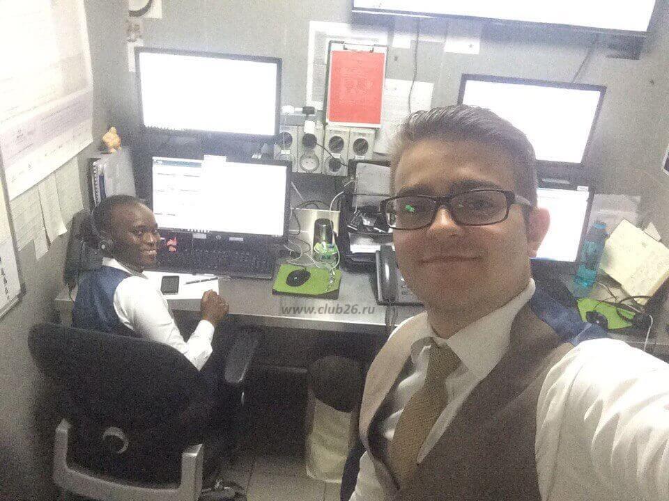 Алексей на рабочем месте
