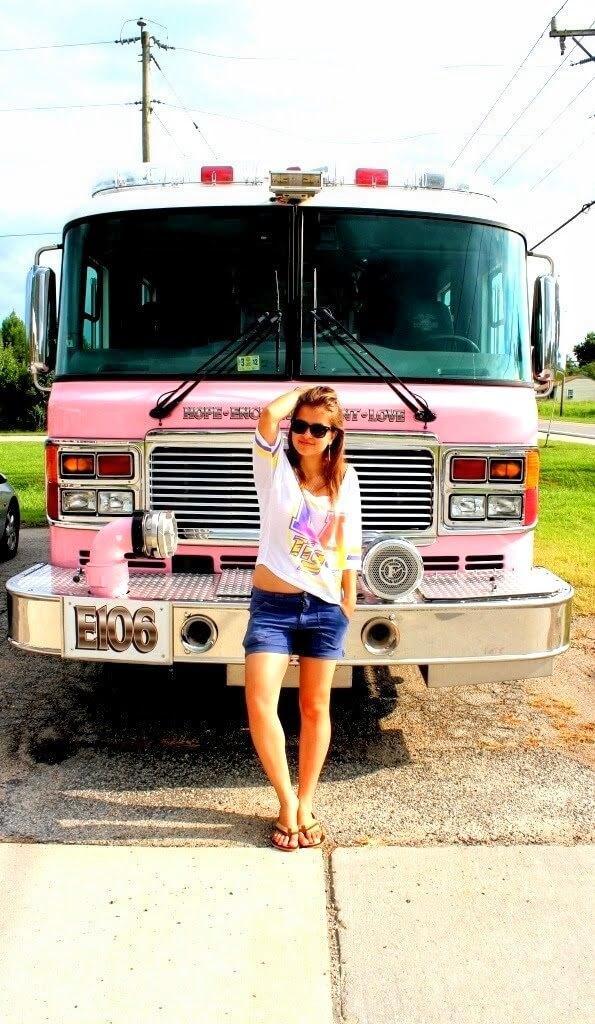 У пожарной машины в США