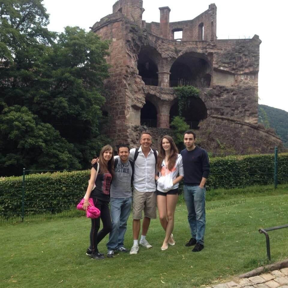 В старом городе со студентами