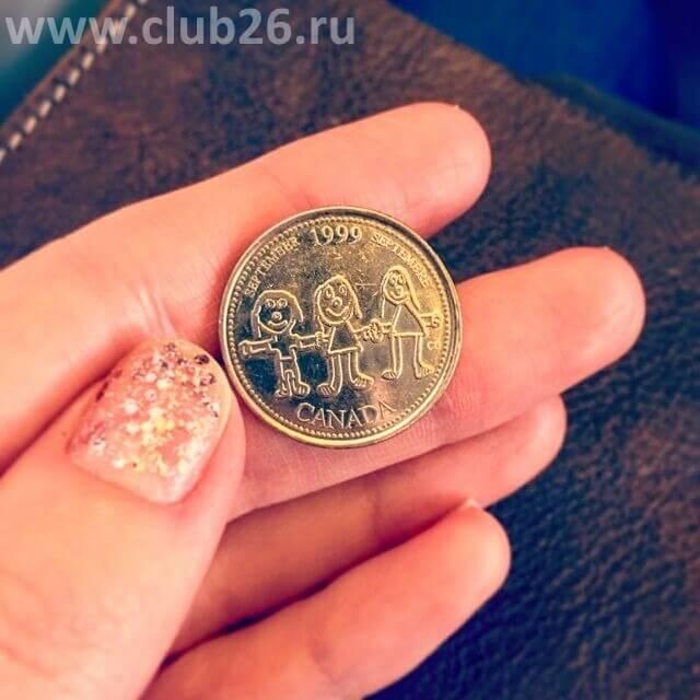 Детский рисунок отчеканили на монете