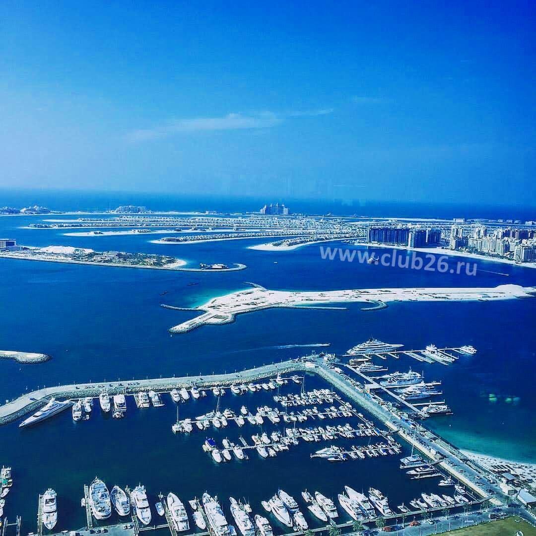 Вид на морскую лагуну Дубай
